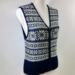 Pendleton Navy Blue Zip Up Vest. S
